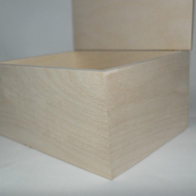 Scatola in betulla da decorare cm 16, 5x9x9