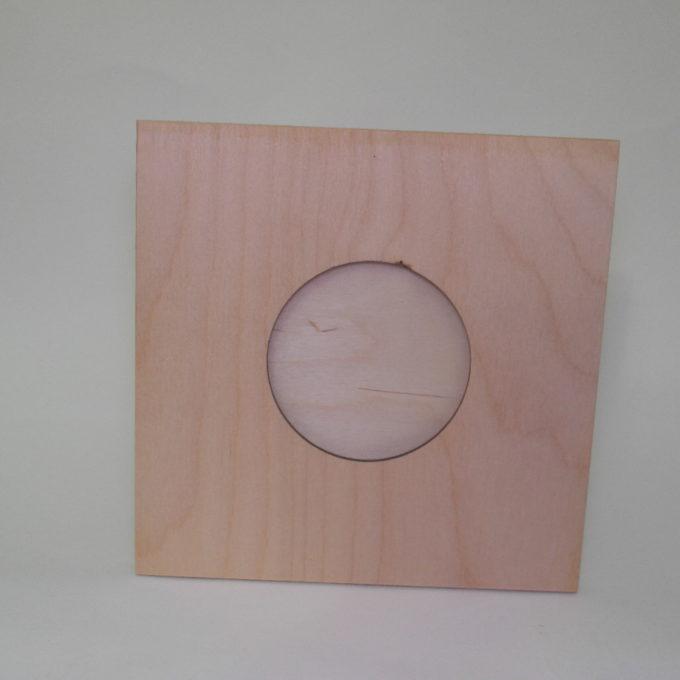 Porta fotografia in legno tondo