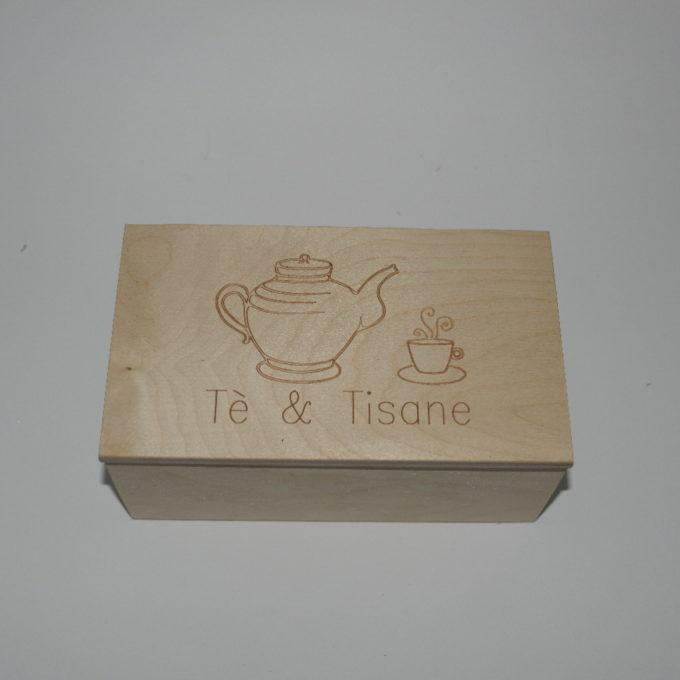 Scatola in legno incisa a laser cm 11 x 19 x 8