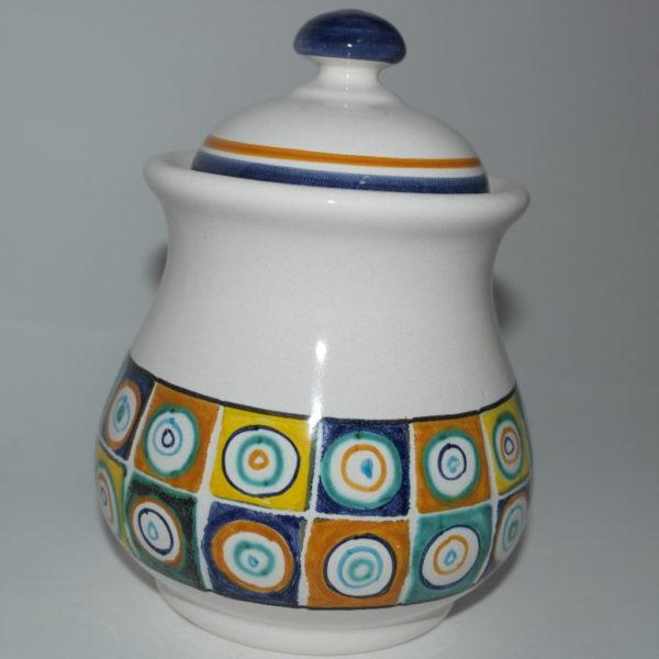 barattolo in ceramica di castelli terzo cielo