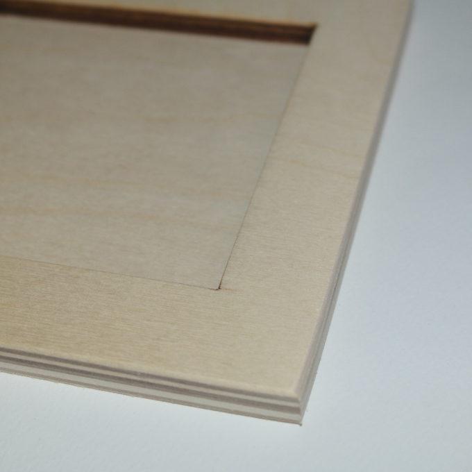 Porta mattonella in legno