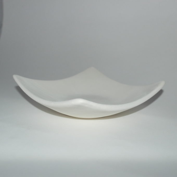 Svuota tasca giapponese in terracotta bianca