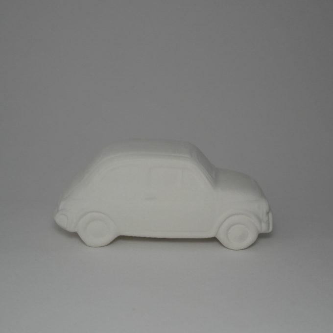 Modellino fiat 500 in terracotta bianca