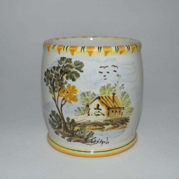 Portapenne in ceramica cm 10 panorama