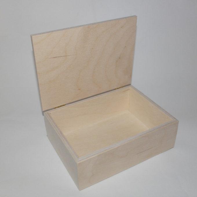 Scatola in legno con coperchio cm 14 x 19 x 6, 5