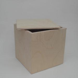 Scatola in legno artigianale cm 14 x 14 x 14
