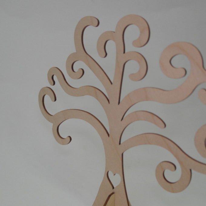 Albero della vita con piedino in legno
