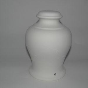 Base per lampada in terracotta bianca