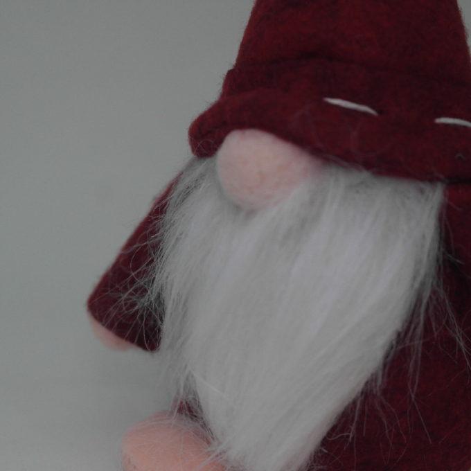 gnomo da arredamento con barba cm 15