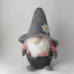gnomo fermaporta con cappello e barba cm 44