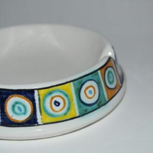 posacenere in ceramica di castelli dipinto a mano