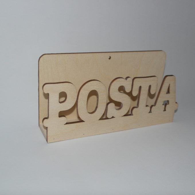 Porta posta con scritta