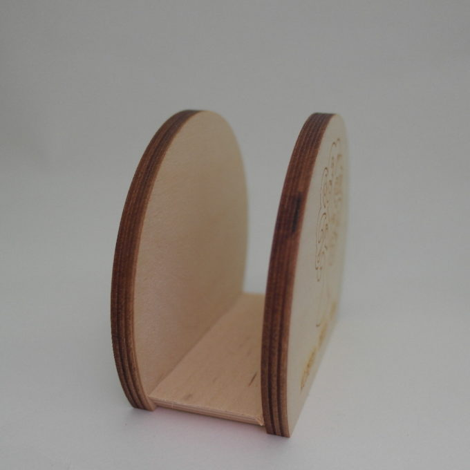 Portatovagliolo in legno tondo albero della vita inciso a laser cm 8,5 x 10 x 5,5