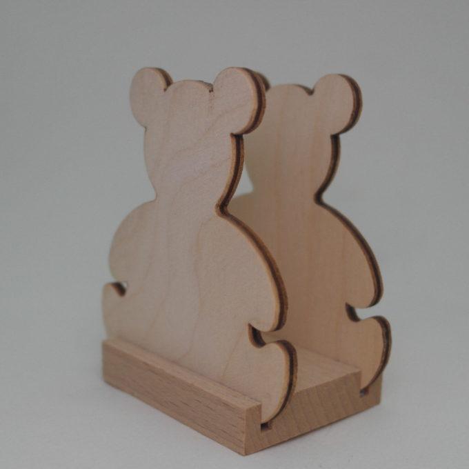 Portatovagliolo in legno forma Orso cm 9 x 6 x 5