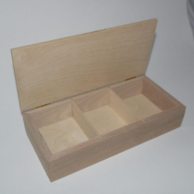 Scatola in legno artigianale 3 reparti
