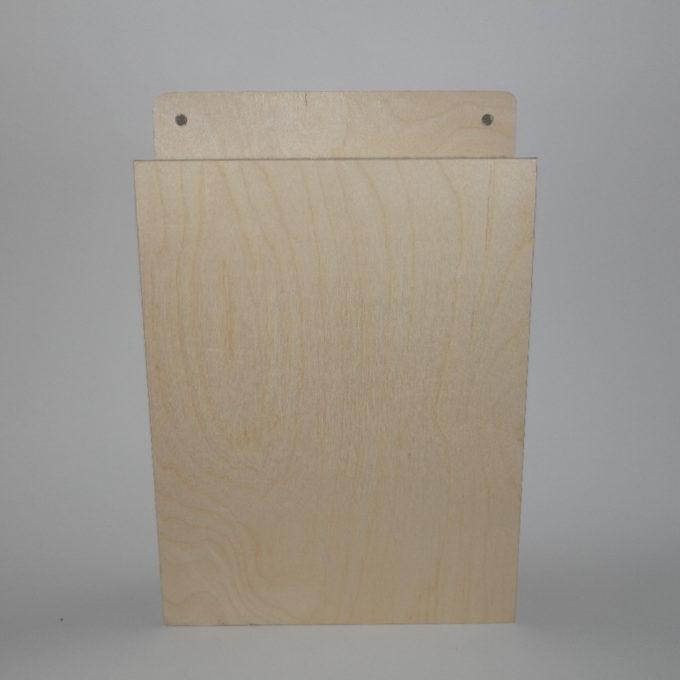Scatola portachiavi in legno incisa a laser cm 22 x 28 x 5