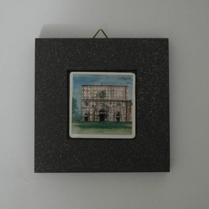 Mattonella in ceramica cm 5 x 5 con cornice