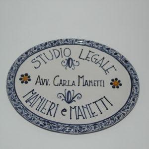 ceramica di castelli personalizzata