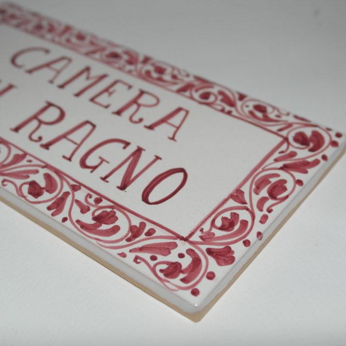 Mattonella in ceramica cm 15 x 20 dipinta a mano