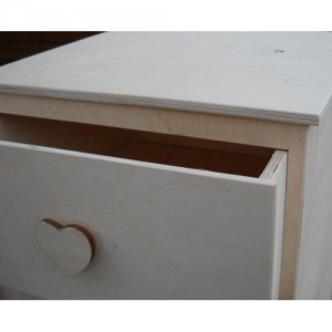 Cassettiera in legno di faggio misure 77 x 30 x 30