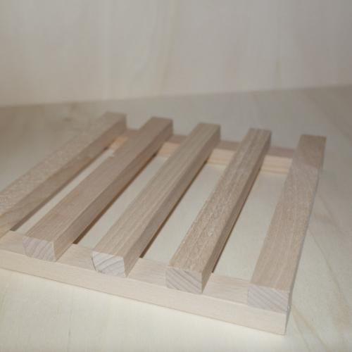 poggia pentola a listelli in legno cm 20 x 20
