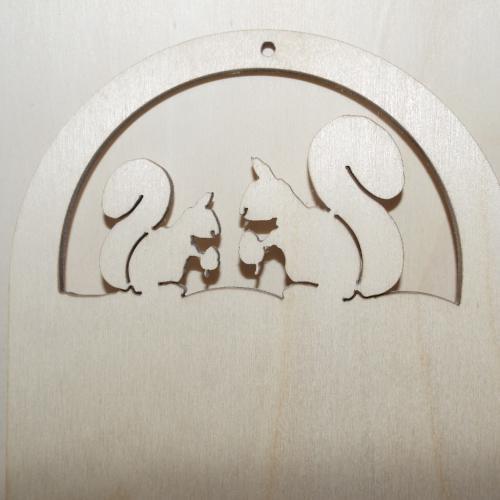 Portachiavi da muro soggetto scoiattolo cm 15 x 12