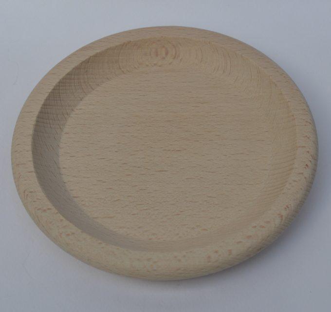 Piatto vassoio in legno di faggio per polenta tondo