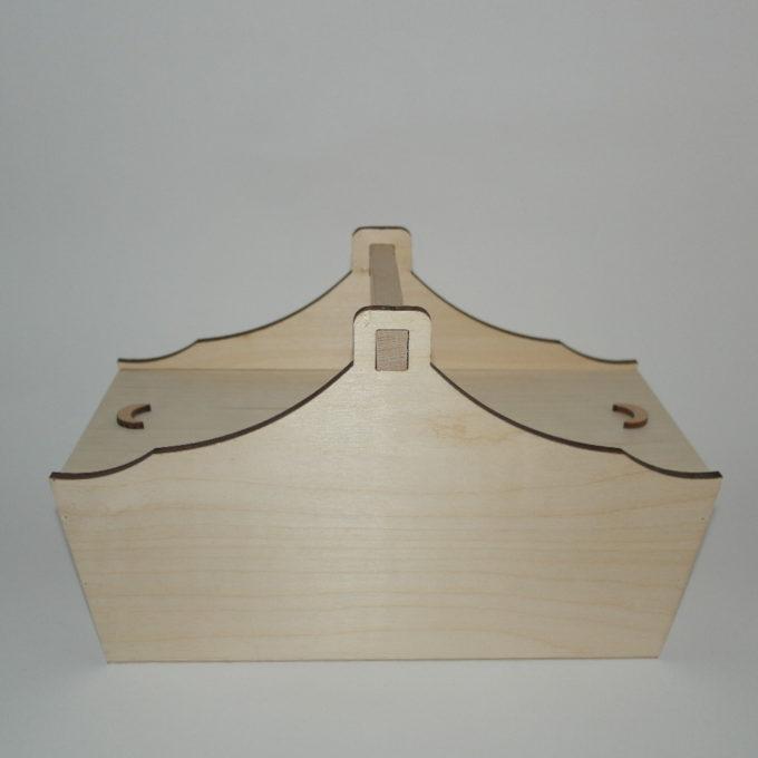 Porta ago e filo in legno.