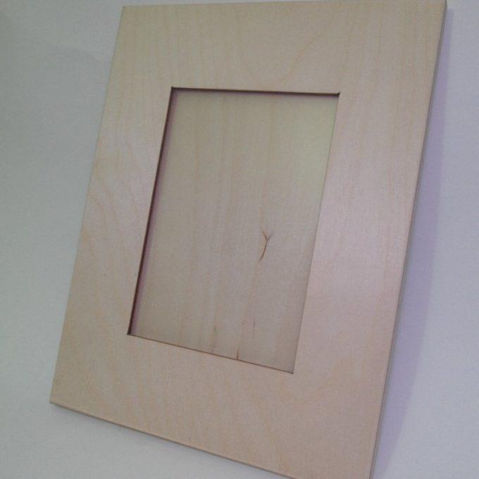 Portafotografie in legno di faggio. fascia larga