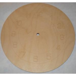 Sagoma orologio rotondo con incisione laser in legno di faggio cm 29
