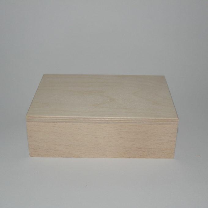 Scatola porta carte in legno di faggio a 2 reparti