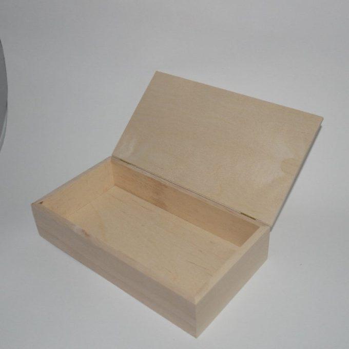 Scatola rettangolare in legno di faggio
