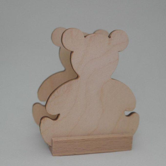 Portatovagliolo legno artigianale sagoma orso