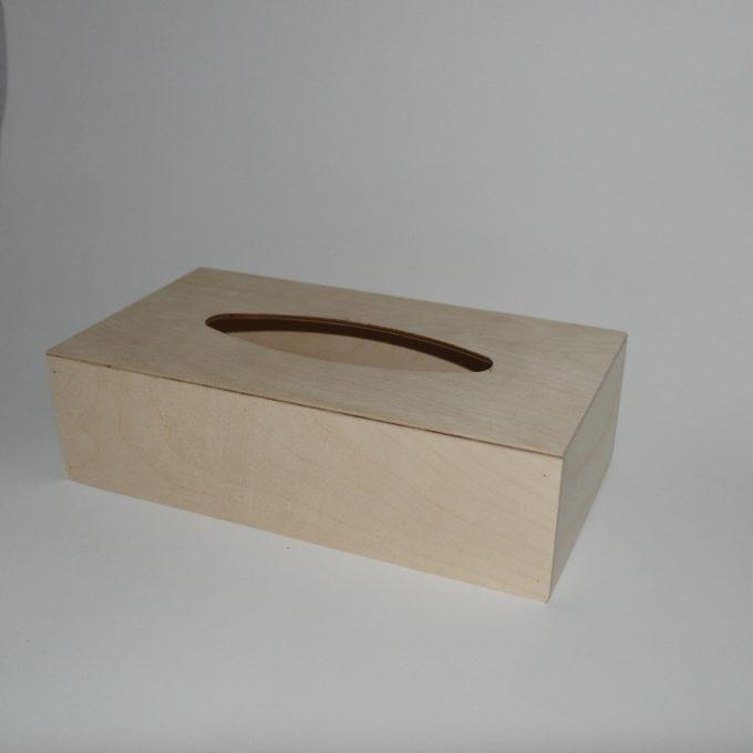 Porta clinex in legno artigianale