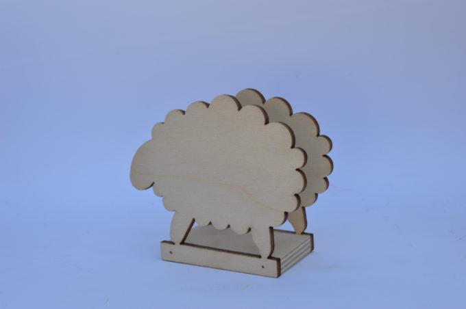 Portatovagliolo legno artigianale sagoma pecora