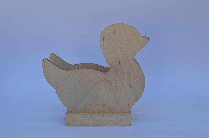 Portatovagliolo legno artigianale sagoma papera