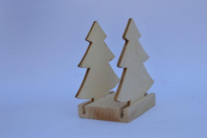 Portatovagliolo legno artigianale sagoma albero