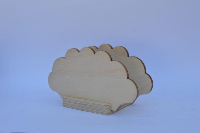 Portatovagliolo legno artigianale sagoma nuvola