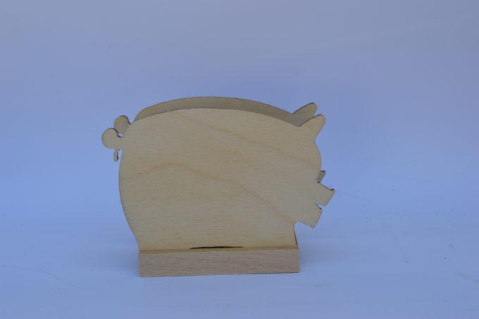 Portatovagliolo legno artigianale sagoma maiale