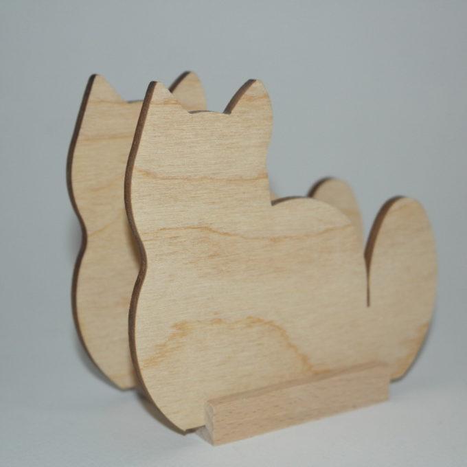 Portatovagliolo legno artigianale sagoma gatto