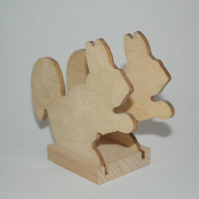 Portatovagliolo legno artigianale sagoma scoiattolo