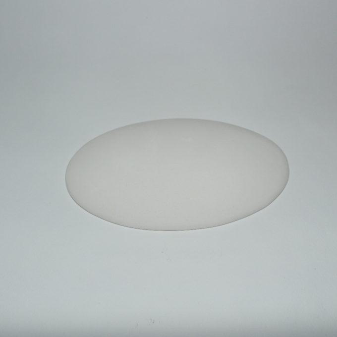 Ovale in terracotta bianco.