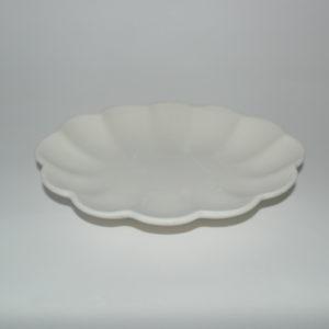 Ciotola ovale in terracotta bianca cm 23