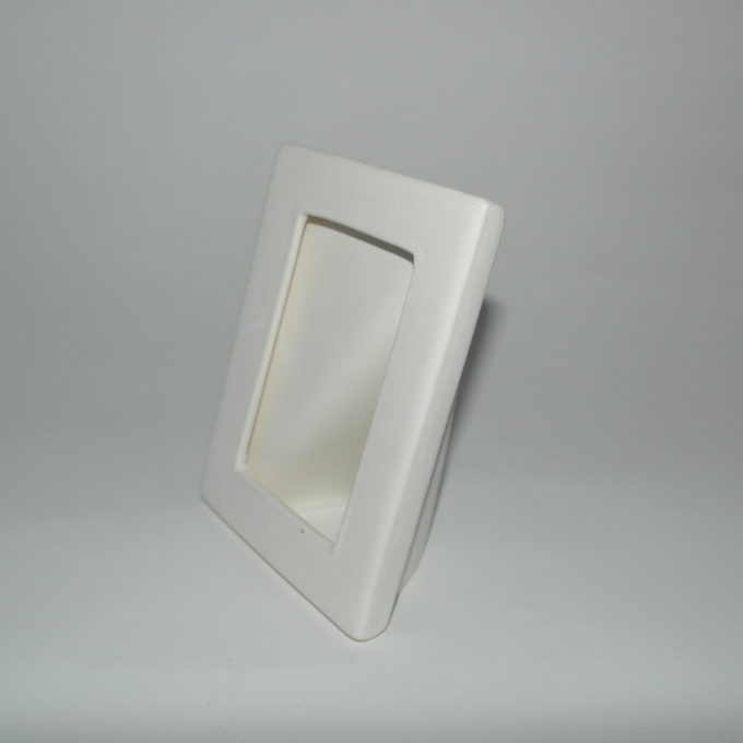 Cornice portafotografia in terracotta bianca cm 15 x 12