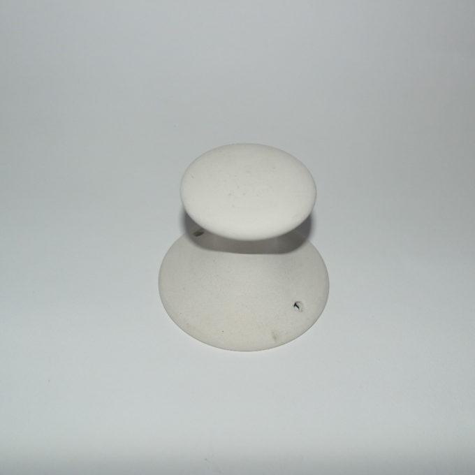 Pomello attaccapanni in terracotta bianca da decorare